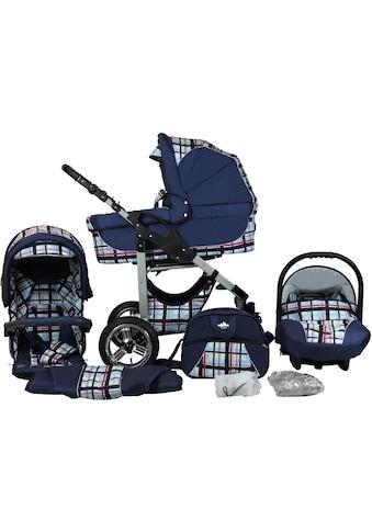 bergsteiger Kombi-Kinderwagen »Capri, blue stripes, 3in1«, 15 kg, Made in Europe kaufen