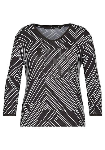 LeComte V-Shirt, mit Streifenmuster und Ziersteinchen kaufen