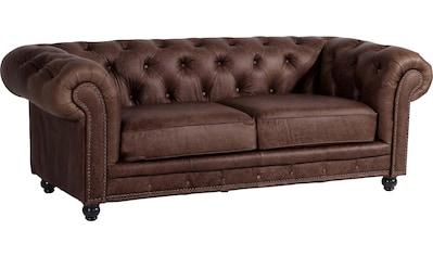 Max Winzer® Chesterfield-Sofa »Old England«, 2,5-Sitzer Ledersofa mit Knopfheftung &... kaufen