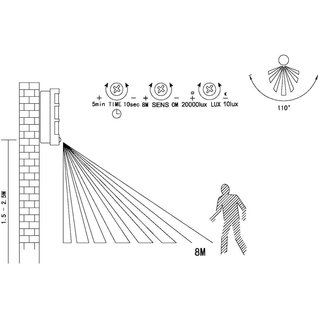 EGLO Außen-Wandleuchte »CITY«, E27, Mit Bewegungssensor