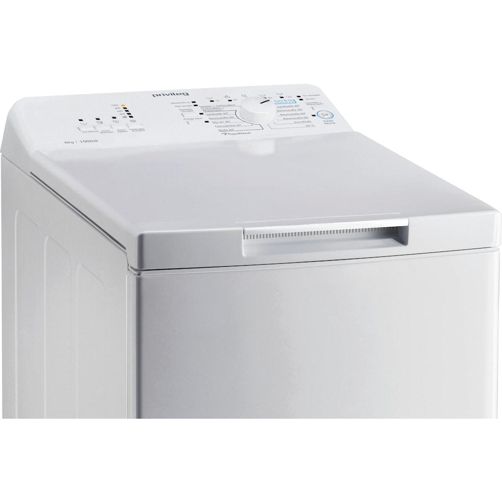 Privileg Waschmaschine Toplader »PWT L60300 DE/N«, PWT L60300 DE/N