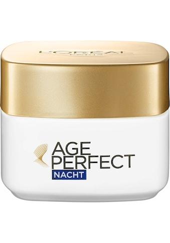 L'ORÉAL PARIS Nachtcreme »Age Perfect«, Reichhaltige, nicht-fettende Nachtpflege kaufen