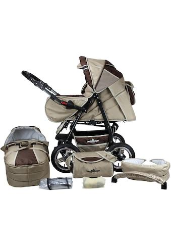 bergsteiger Kombi-Kinderwagen »Rio, coffee & brown, 3in1«, mit Lufträdern; Made in Europe kaufen