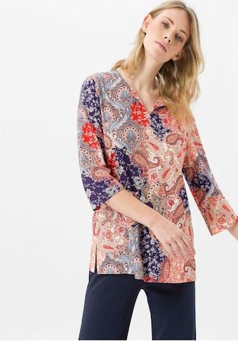 Green Cotton 3/4-Arm-Shirt »Splitneck-Shirt«, mit Seitenschlitzen kaufen