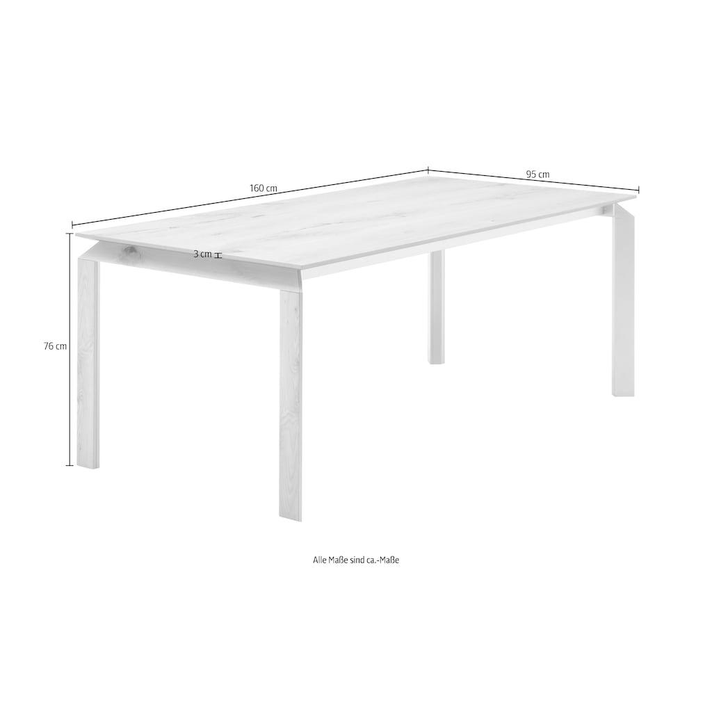 GWINNER Esstisch »Esstisch ET523«, mit Piton Tischplatte, wahlweise mit Auszugsfunktion