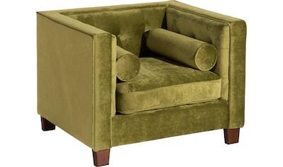 Max Winzer® Sessel »Jobbi«, mit Steppung im Rücken, inklusive 2 Kissenrollen, Breite 99 cm kaufen