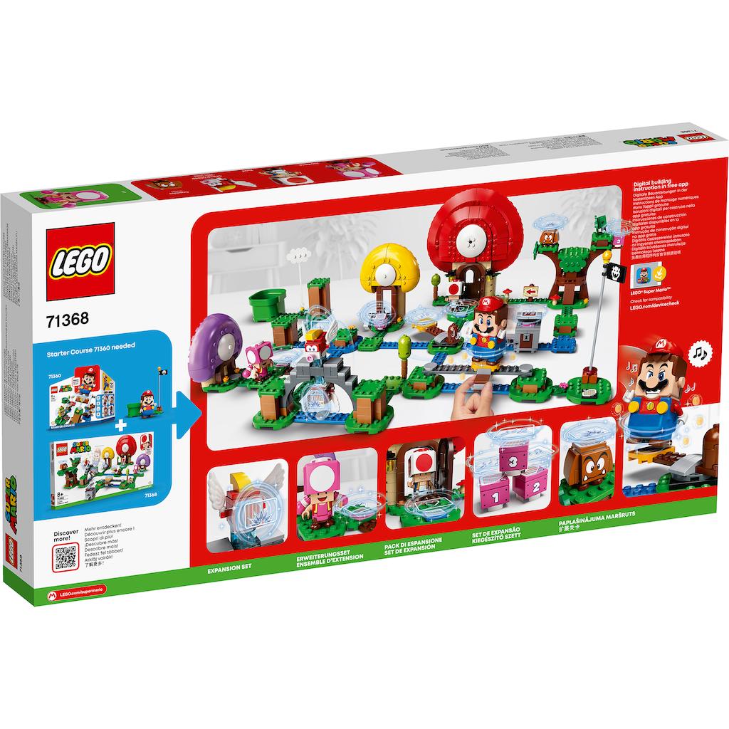 LEGO® Konstruktionsspielsteine »Toads Schatzsuche – Erweiterungsset (71368), LEGO® Super Mario«, (464 St.), Made in Europe