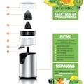Arendo Zitruspresse elektrisch in Edelstahl »CITRUS JUICER 100 W«