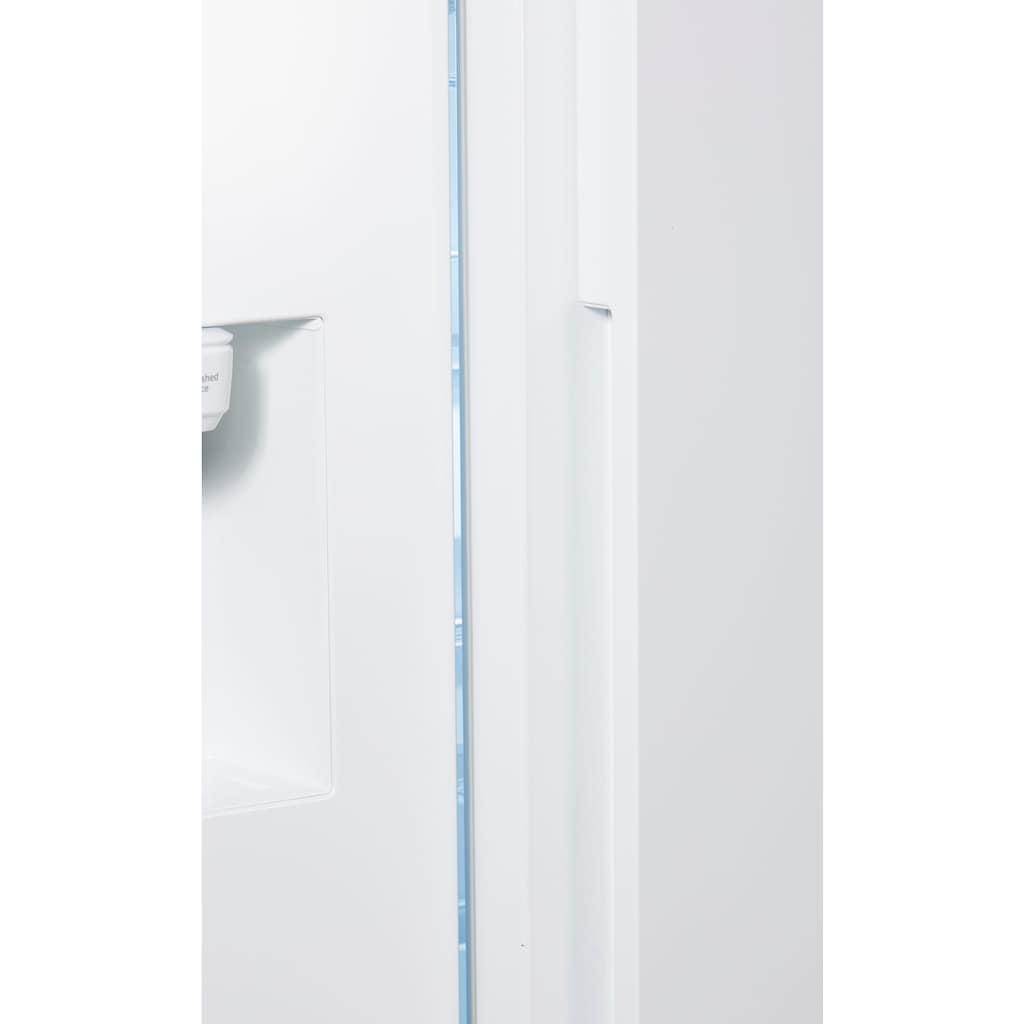 Samsung Side-by-Side »RS68N8231WW«, RS8000, RS68N8231WW, 178 cm hoch, 91,2 cm breit, Family Hub – Display im Kühlschrank