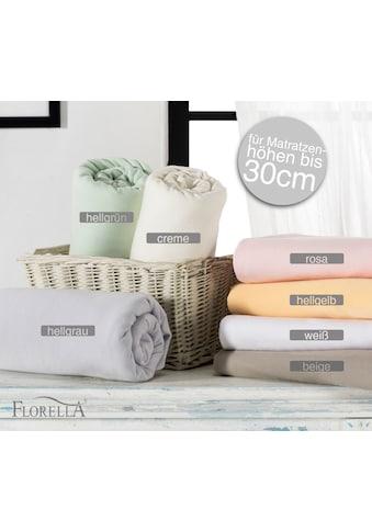 Florella Spannbettlaken »JZE, Zwirn Jersey, für Matratzenhöhen bis 30 cm« kaufen