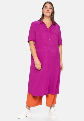 Sheego Blusenkleid, mit Knopfleiste und Teilungsnähten kaufen