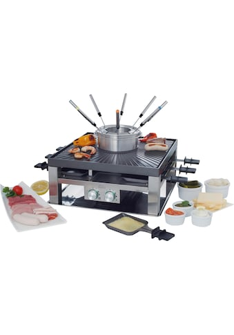 SOLIS OF SWITZERLAND Tischgrill SOLIS Combi Grill 3 in 1, Fondue, Raclette, 2000 Watt kaufen
