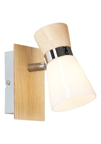 Brilliant Leuchten Wandleuchte, E14, Nacolla Wandspot holz hell/chrom/weiß kaufen