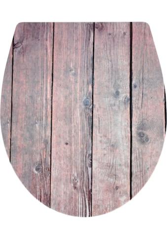 WENKO WC-Sitz, mit Absenkautomatik, Holzmotiv kaufen