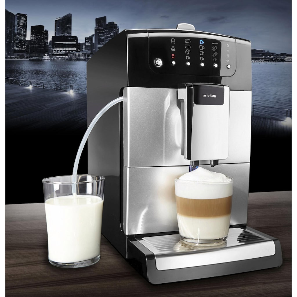 Privileg Kaffeevollautomat Kegelmahlwerk, 1,4l Tank, Kegelmahlwerk
