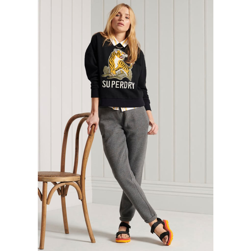 Superdry Sweater »MILITARY NARRATIVE SWEATER«, mit Tiger-Druck