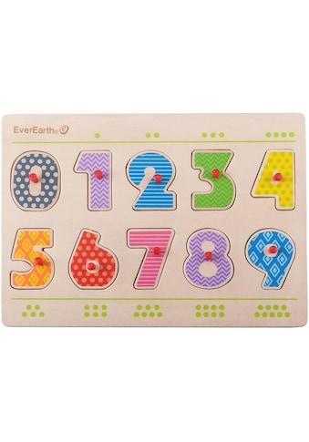 "EverEarth® Steckpuzzle ""Nummern Puzzle"", 11 Teile kaufen"
