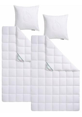 f.a.n. Schlafkomfort Kunstfaserbettdecke + Kopfkissen »Wellness Line«, (Spar-Set), kochfeste Qualität für hohen Hygieneanspruch kaufen