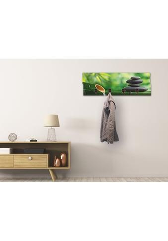 Artland Garderobenpaneel »Bambusbrunnen und Zen-Stein«, platzsparende Wandgarderobe... kaufen