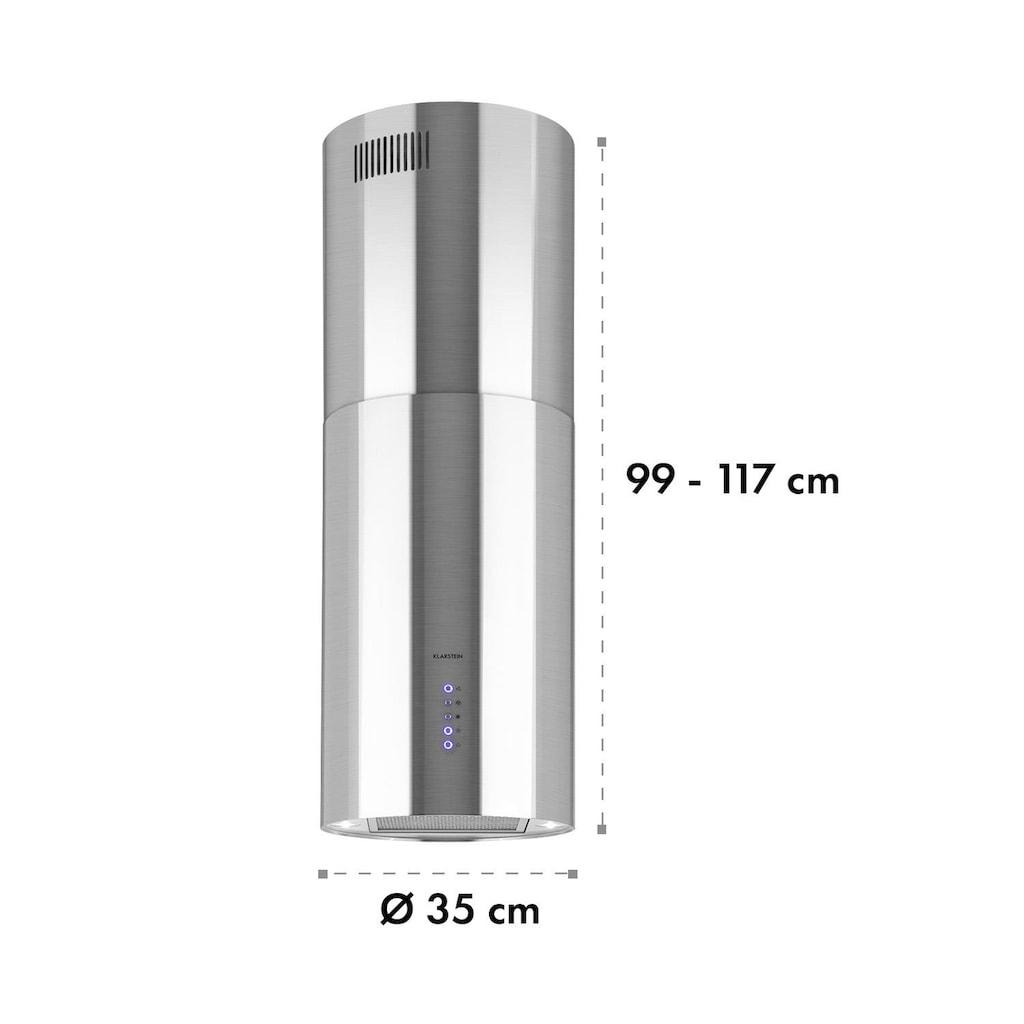 Klarstein Inselabzugshaube Ø49,5cm Ab-/Umluft 650m³/h LED