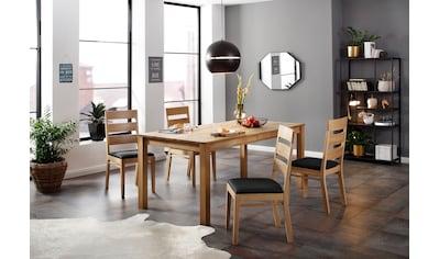 Home affaire Essgruppe »Soeren 4«, (Set, 5 St., Tisch 180/90 cm, 4 Stühlen,... kaufen
