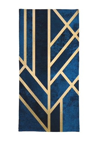 Juniqe Handtuch »Art Deco Midnight«, (1 St.), Weiche Frottee-Veloursqualität kaufen
