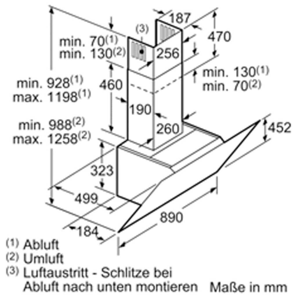 SIEMENS Kopffreihaube »LC98KLP10«, Serie iQ500
