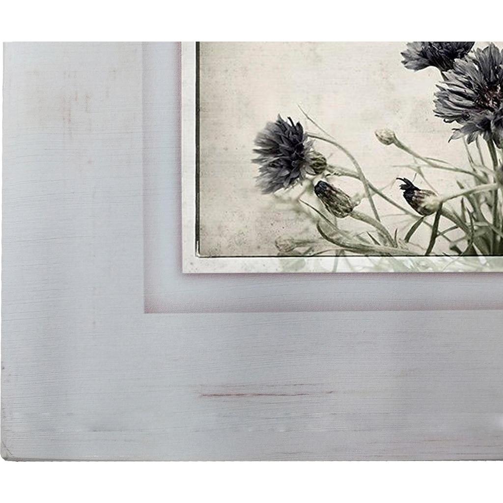 Home affaire Holzbild »Kornblumen«, 40/40 cm