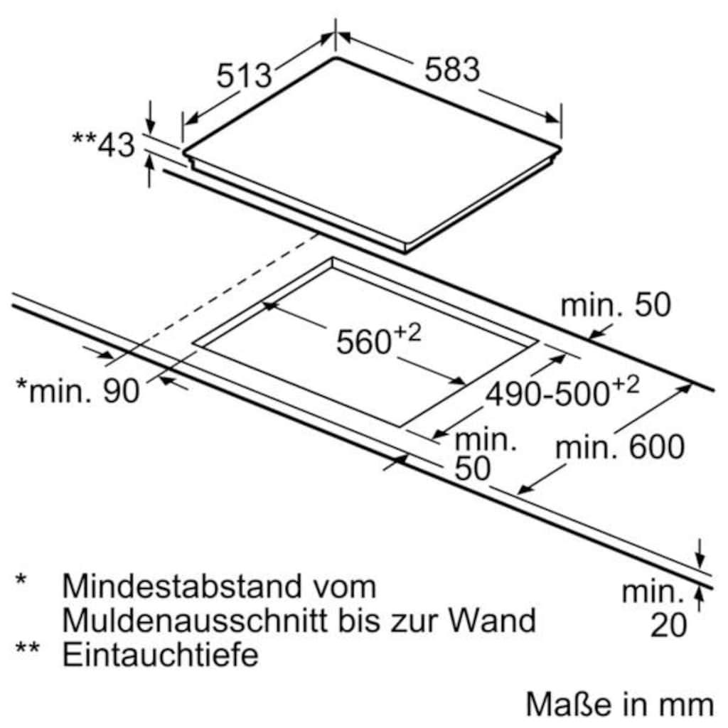SIEMENS Elektro-Herd-Set »EQ521KB0V«, HE517BBS0, mit Backwagen, (Set), Kindersicherung