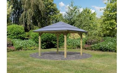 Karibu Pavillon »Bergen 1«, (Set), BxTxH: 338x338x290 cm, mit H-Pfostenanker kaufen