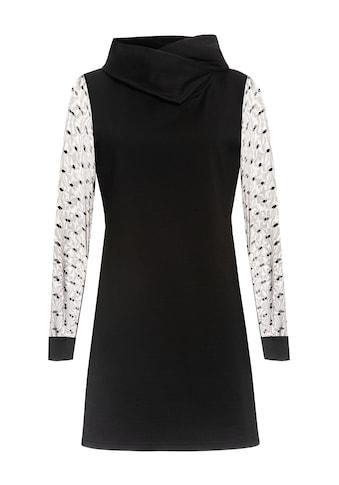 Pussy Deluxe Sweatkleid »Black Dots Shawl Hooded« kaufen