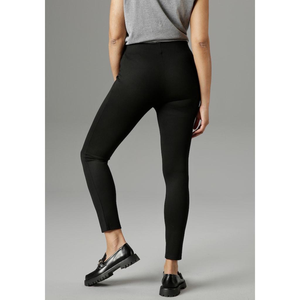Aniston SELECTED Leggings, mit Zierknöpfen - NEUE KOLLEKTION
