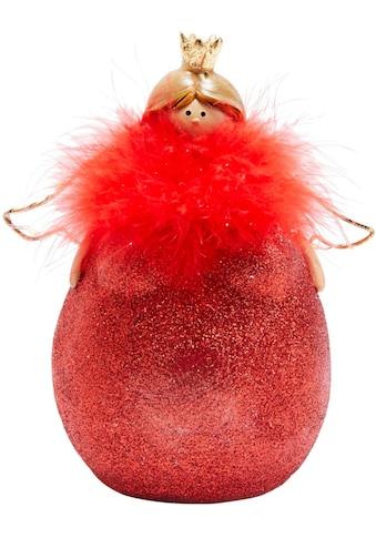 LED Dekofigur »Molly Rouge«, Warmweiß, mit roter Feder-Boa kaufen