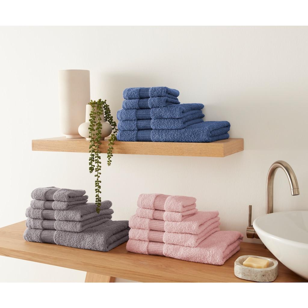 OTTO products Handtuch Set »Jannis«, mit dezent hochwertiger Bordüre