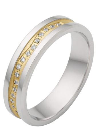 Firetti Trauring mit Gravur »rhodiniert, glanz, sandmatt, Diamantschnitt, bicolor, 5,0... kaufen