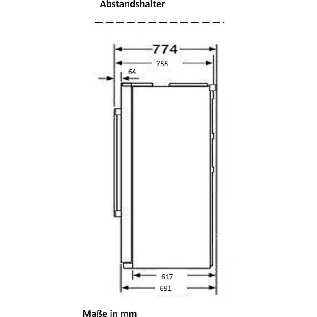 Hanseatic Side-by-Side, HSBS17990DR, 176,5 cm hoch, 89,7 cm breit, 4 Jahre Garantie