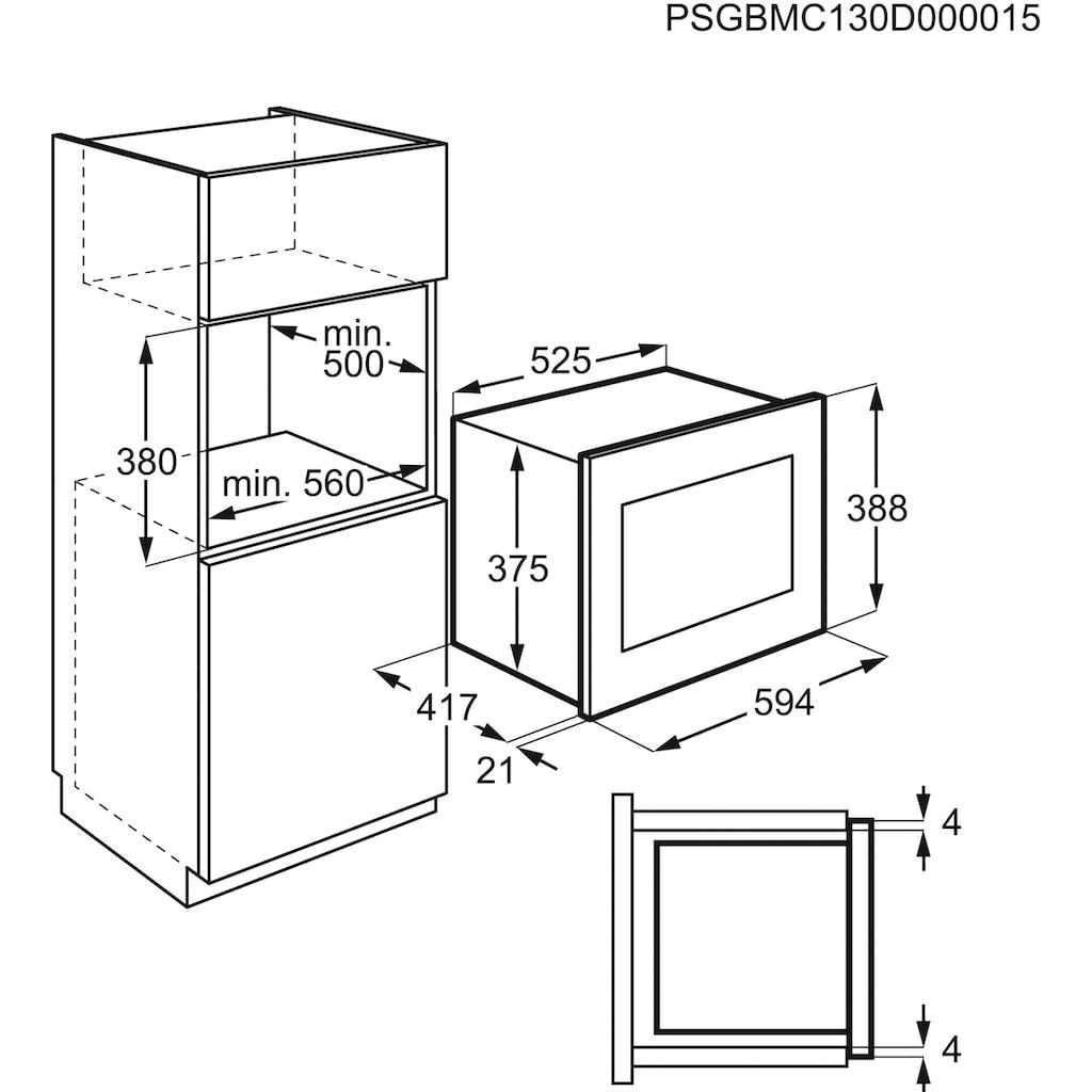 AEG Einbau-Mikrowelle »MBE2657SEM«, Mikrowelle, 900 W, Touch-Bedienung