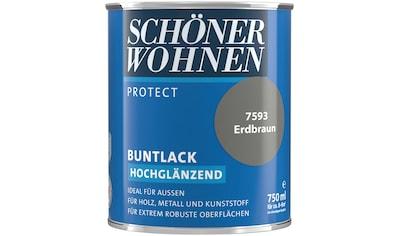 SCHÖNER WOHNEN-Kollektion Lack »Protect«, hochglänzend, 750 ml, erdbraun kaufen