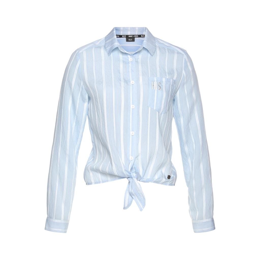 H.I.S Hemdbluse »vorn zu knoten«, mit eingwebten Streifen