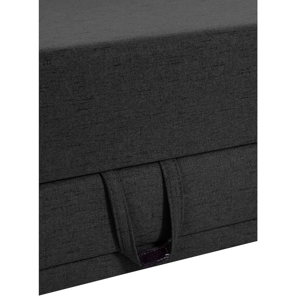 INOSIGN Ecksofa »Cardiz«, inkl.Kopfteilverstellung und Federkern wahlweise mit Bettfunktion + Bettkasten oder Vorziehsitz + Bettkasten