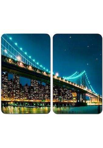 WENKO Herd-Abdeckplatte »Brooklyn Bridge«, (Set, 2 tlg.), kratzfest kaufen