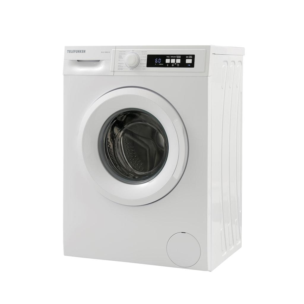 Telefunken Waschmaschine »W-6-1000-W«, W-6-1000-W, 6 kg, 1000 U/min, (6 kg / weiss)