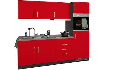 HELD MÖBEL Küchenzeile »Paris«, mit E-Geräten, Breite 220 cm, wahlweise mit... kaufen