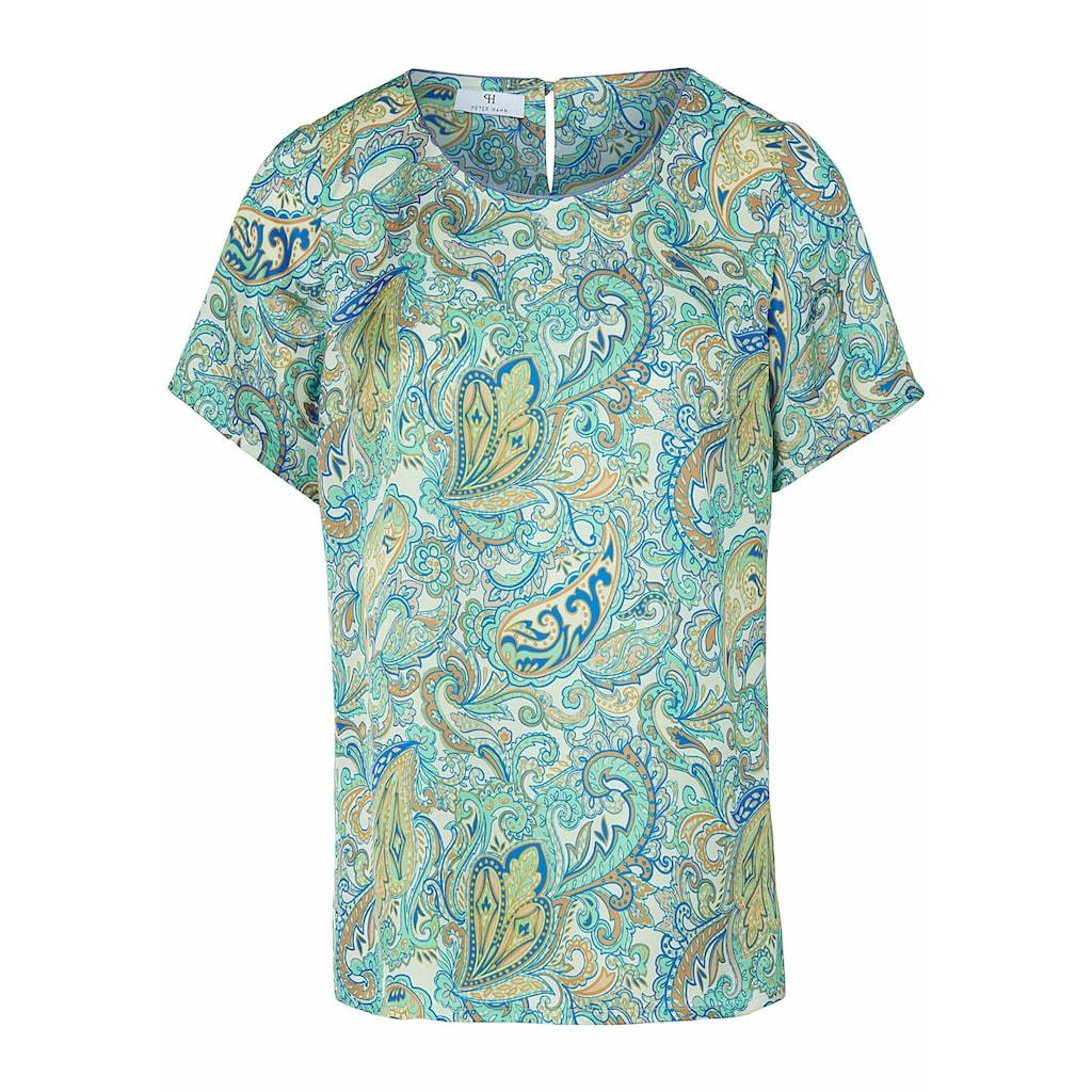 Peter Hahn Kurzarmbluse »Blusen-Shirt zum Schlupfen«, Paspel