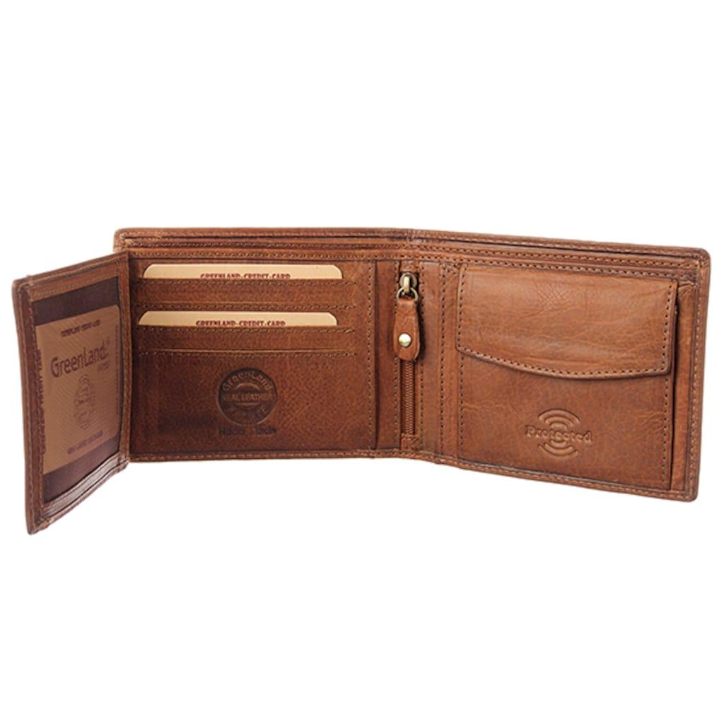 GreenLand Nature Geldbörse »Soft&Safe«, aus hochwertigem Leder