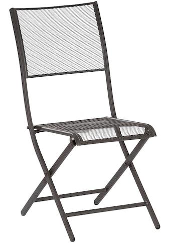 MERXX Gartenstuhl »Samos«, 2er Set, stapelbar, Oval-Stahlrohr-Gestell 30x15 mm, schwarz kaufen