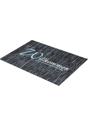 ASTRA Fußmatte »Felicido 803«, rechteckig, 6 mm Höhe, Fussabstreifer, Fussabtreter, Schmutzfangläufer, Schmutzfangmatte, Schmutzfangteppich, Schmutzmatte, Türmatte, Türvorleger, mit Spruch, waschbar kaufen
