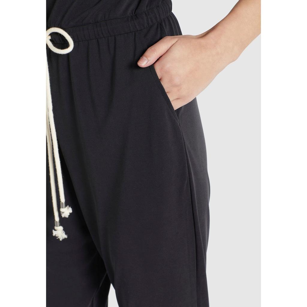 khujo Jumpsuit »RAMONE«, mit kontrastfarbenen Bindeband in der Taille