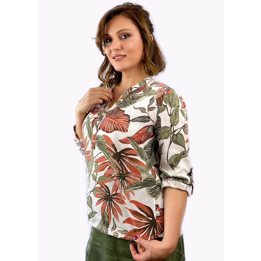 Heimatliebe Bluse mit Blumendruck