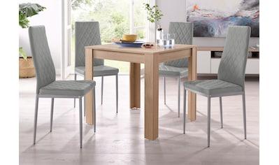 my home Essgruppe »Lynn + Brooke«, (Set, 5 tlg.), mit Tisch in Eichefarben Sägerau,... kaufen